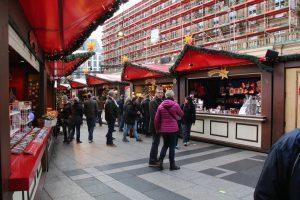 Kerstmarkt bij de dom in Keulen